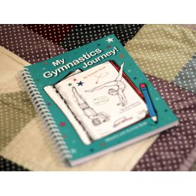 An image of the Head Over Heels about gymnastics My Gymnastics Journey Journal/Activity Book Main