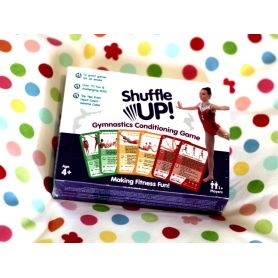 An image of the Head Over Heals about Gymnastics Shuffle Up Game in it's box main