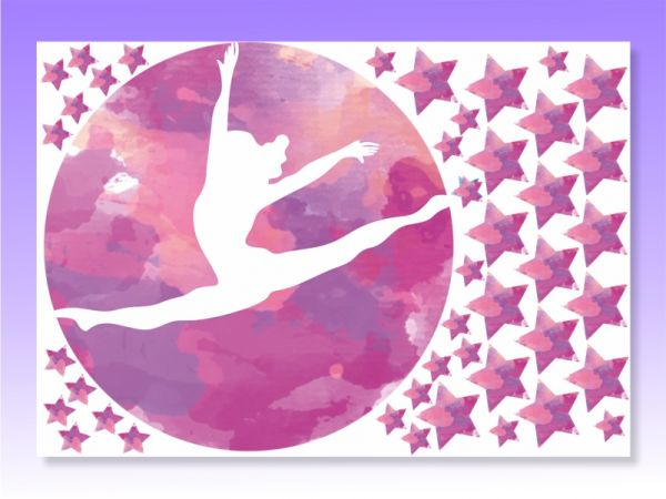 An image of Gymnastic Stickers for walls Pink
