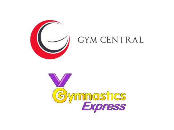 An image of the Gym Central and Gymnastics Express Logos