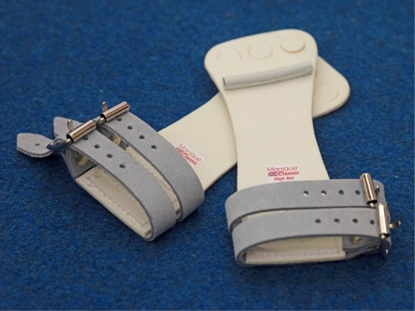 An image of a pair of Manique Classic High Bar Guards Double Buckle main