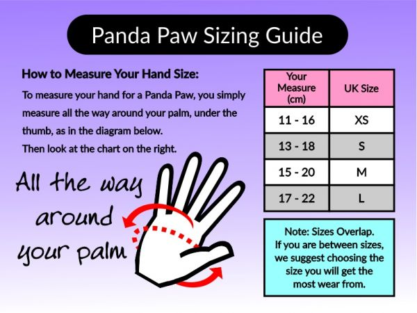 An image of The Panda Paw Sizing Guide