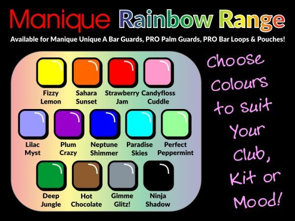 An image of The Manique Rainbow Range Colour Chart