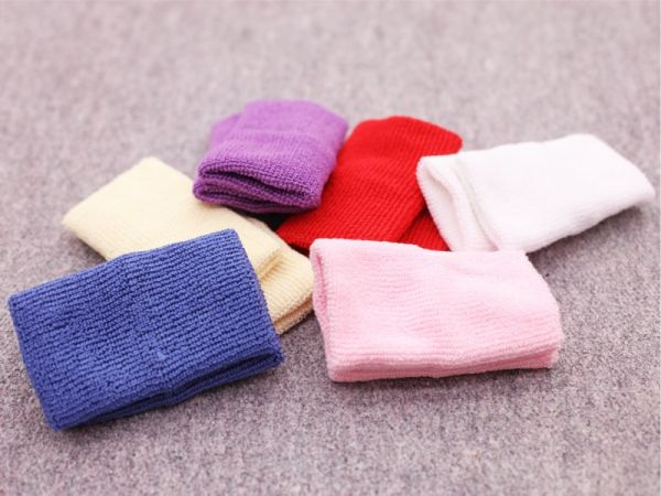 An image of the Manique cotton wristbands in all colours (Rainbow Pack)