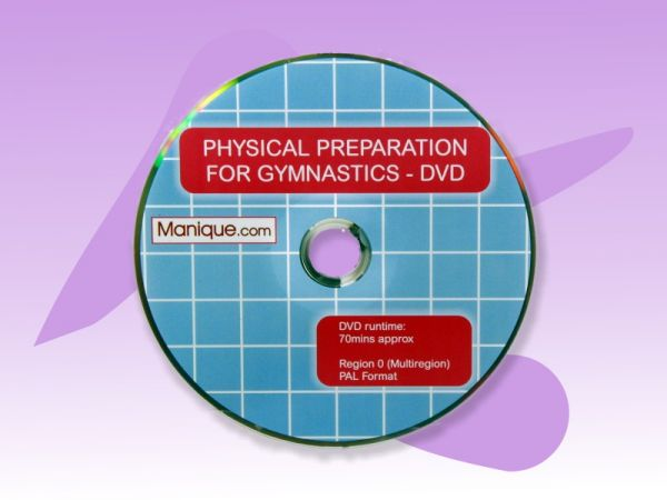 An image of the Physical Preparation for Gymnastics DVD disc