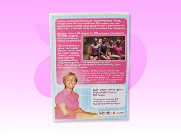 An image of the Physical Preparation for Gymnastics DVD back cover