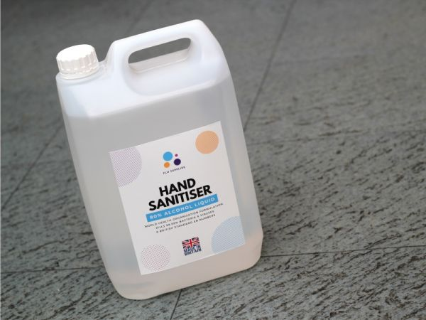 An image of a 5 litre container of hand sanitiser soloution main Image
