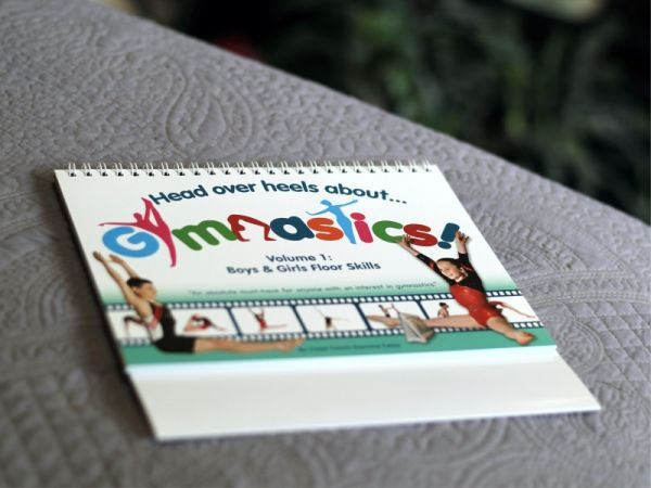 An image of the Head Over Heels about gymnastics volume 1 floor skills book main